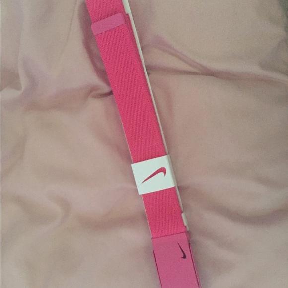 Pink nike belt